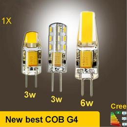 Wholesale Cob Led Smd 6w - 2017 DC AC g4 COB 12v Led bulb Lamp SMD 3014 3W 5W 6W Replace 10w 30w halogen lamp light 360 Beam Angle