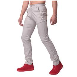 Wholesale Cargo Soft - Wholesale- Pure Mens Casual Pants Soft 100% Cotton Cargo Pants chinos Men High Quality Slim Autumn Long Suit Pants Business Work Trousers