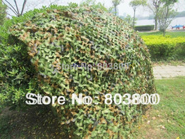 Wholesale Car Drop Netting Hunting - 3x2M Hunting Military Camouflage Net Woodlands Leaves jungle Camo Cover Car Drop netting Field game CS combat bird observation