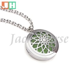 Wholesale Grade Wholesale Stainless Steel Jewelry - Aromatherapy Essential Oil Diffuser Necklace Jewelry Elegant Hypo-Allergenic 316L Surgical Grade Stainless Steel Locket Pendant Necklace