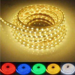 Wholesale Bar Party Decorations - 100m 110V 220V Led Strips smd 5050 LED rope light IP67 Flex LED Strip lights Outdoor Lighting string Disco Bar Pub Christmas Party