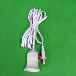 Wholesale Heat Lamp Holders - Pendant Lamp Take line switch lamp holder E27 General Have Screw The Shape Of The Lamp Holder The Lantern Heat Selling In 2015