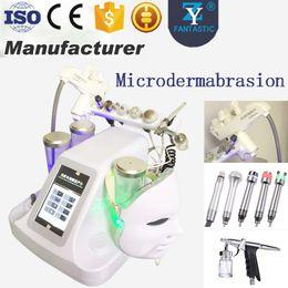 máquina de piel hidráulica Rebajas Profesional Microdermabrasion Hydro Facial Machine Hydra Dermabrasion Face Deep Cleaner Cuidado de la piel Multifuncional Facial Spa Equipment