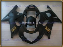 Wholesale Gsxr Abs Motorcycle Fairing - Motorcycle fairing kit for SUZUKI GSXR 600 750 01 02 03 600 GSXR GSX-R750 K1 2003 2001 2002 matte black panels body PM10