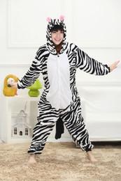 Wholesale Adult Zebra Onesie - Cartoon Animal Zebra Adult Onesies Onesie Pajamas Kigurumi Jumpsuit Hoodies Sleepwear For Adults Welcome Wholesale Order