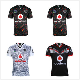 Wholesale Warriors Jersey Xl - 2016-2017 2018 Warriors RUGBY jersey 16 17 18 Top Thailand quality RWC NRL Rugby warriors home and away Shirts Free Shipping