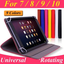 Wholesale Apple Acer - Universal Rotating PU Leather Stand Case For 7 8 9 10 10.1 10.2 inch Tablet PC MID iPad Samsung Galaxy Kindle Fire Google Nexus ASUS acer
