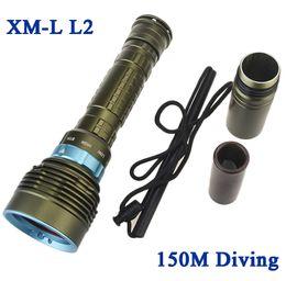 Skyray DX7 7 Cree XM-L2 14000LM LED Plongée Lampe de Poche Sous-Marine Lampe Torche Plongée lampe étanche Puissance par 18650 26650 batterie ? partir de fabricateur