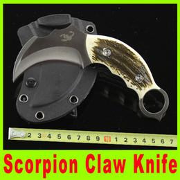 2019 couteaux de karambit de scorpion Offres spéciales Couteau Scorpion Claw Karambit AUS-8A 59HRC EDC Couteau de poche Lame de combat à manche fixe avec K gaine sport Couteaux 722X