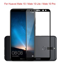 Wholesale Case Mates - For Huawei Mate 10 Pro Tempered Glass 9H Electroplated Front Full Film Case For Huawei Mate 10 Lite Screen Protector For Mate 10