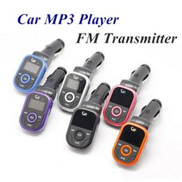 Wholesale Remote Disk - 10pcs Universal Car MP3 Player FM Transmitter Modulator with Remote Control Support TF Card USB Disk 12-24V Enjoy Speaker Music in Car