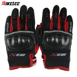 Wholesale Carbon Motors - 2015 XUEYU full finger carbon firber motocycle glove black red S M L XL guantes invierno motocicleta harley gloves motor eldiven