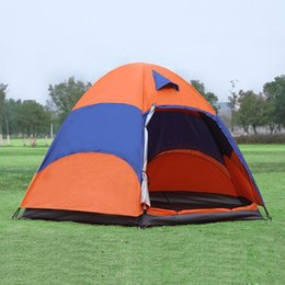 Wholesale Tent Rainproof - Wholesale- New Outdoor 5-8 Persons Large Tent Sunshade Double Layer Sun Shelter Rainproof Anti-UV Shed Camping Hiking Travel Tent
