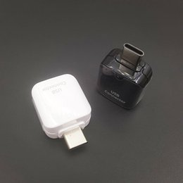 Wholesale Usb Type Connectors - Brand new Original Genuine Type-C to Micro+Type-C to USB OTG Adapter Connector for Samsung Galaxy C9 S8 Plus Combination.Data bial-purpose