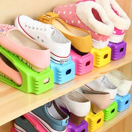 Wholesale Floor Shelve - New Fashion Shoe Racks Modern Double Cleaning Storage Shoes Rack Living Room Convenient Shoe Box Shoes Organizer Stand Shelf