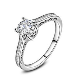 Wholesale Diamond Accent Rings - ACCENTS VVS1 D LAD DIAMOND RING ROUND SPARKLING 4 PRONG 1.74 CTS 14K WHITE GOLD FILLED