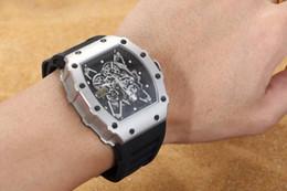 Uomini resistenti agli uomini meccanici orologi online-Automatico lusso meccanico Mens Watch RM035 Zaffiro Bracciale in gomma resistente all'acqua moda da polso per gli uomini regalo di Natale