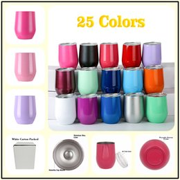 Wholesale Unique Mug Designs - Unique Design 304 Stainless Steel Beer Mugs 9oz Egg Cups 25 Colors Double Walls Glasses for Travel
