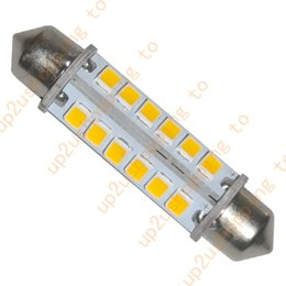 """Wholesale wholesale interior lighting - 2x 44MM 24-2835-SMD LED Bulbs Interior Dome Light Warm White, 1.73"""" Festoon 360° for free shipping"""