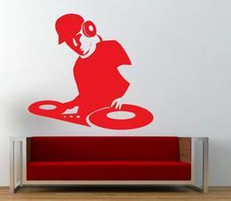 Wholesale Vinyl Dj - DJ Wall Sticker Music Wall Art Decal for Boys Room Decor