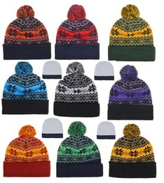 Wholesale Kint Cap - Kint Cuff Beanies Beanie hats winter knit hats American football team beanies cap mix order thousands of models