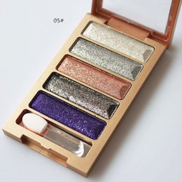 Wholesale Flash Color Palette - New 5 Color Eyeshadow Makeup Eye Shadow Palette,Super Flash Diamond Eyeshadow High Quality Glitter Eyeshadow
