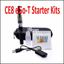 Wholesale Electronic Cigarette Ego Ce8 - CE8 650mah 900mah 1100mah eGo-T Kits CE8 CE9 D5 5ml Atomizers Electronic Cigarette E Cig CE9 Kits as CE4 Starter Blister Kits