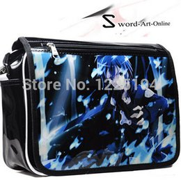 Wholesale Online Messengers - Wholesale-Anime Sword Art Online Kirigaya Kazuto Logo Cosplay Print Cover Messenger Bags Shoulder School Travel Bags