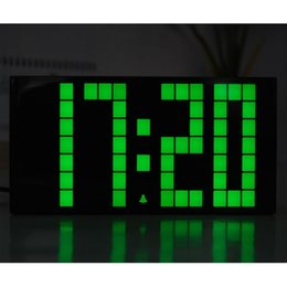 Wholesale Large Time Clock - New Arrival Led Big Large Jumbo Led Digital Alarm Countdown Thermometer Date Time Wall Table Alarms Snooze World Clock Young
