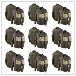 Wholesale Grey Zip Jacket - 2017 Seattle Philadelphia Pittsburgh Minnesota Olive Salute to Service Sideline Hybrid Half-Zip Pullover Jacket Size S-4XL