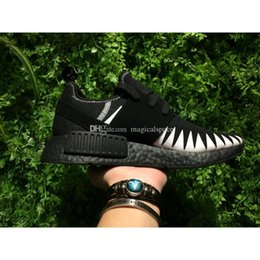 Wholesale Golf R1 - 2017 NEIGHBORHOOD X NMD R1 NBHD X NMD Authentic Men Running Shoes Real Boost Jiont Limited Sports Shoes Running Sneakers With Box