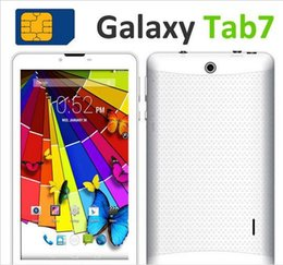 Wholesale China Android Dual Sim - 3G Tablet PC SIM Phone Call tablet MT6572 Dual Core Phablet 7inch 1024*600 HD Bluetooth Android 4.4 Dual Camera 2.0MP