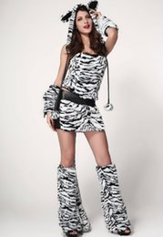Wholesale Deluxe Tiger Costume - Sexy fashion Deluxe Tiger Costume women clothing Free shipping LC8717