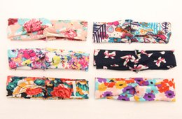 Wholesale Knotted Turban Style Headbands - 2015 brand new !6 colors !Baby Kids Girl Flower Bow Hairband Turban Knot Rabbit Headband Headwear NEW Hair Accessories 10pcs  Bowknot Style