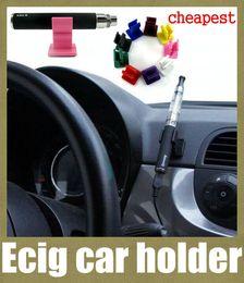 Wholesale Ego Twist Holder - ecig car holder car e-cigarette holder e cig car holder silicone base vaporizer pen stander for ego t evod twist vision spinner x6 FJ047