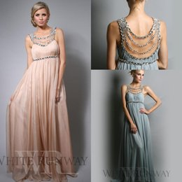 Wholesale maternity party bridesmaid formal dress - 2018 Cheap Evening Dresses Illusion Neck Chiffon Crystal Empire Maternity Pregnant Floor Length Formal Long Bridesmaid Prom Dress Party Gown