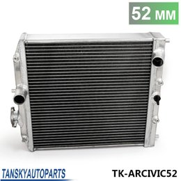 Wholesale Car 52mm - TANDKY - Car 3Row Full Aluminum Racing Radiator For Honda Civic EK EG DEl Sol Manual 92-00 D15 D16 52MM Core TK-ARCIVIC52
