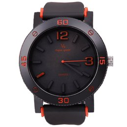 Wholesale V6 Super Speed Quartz Watch - Wholesale-V6 reloj mujer men watch Silicone strap unique design of large dial quartz watches men super speed sport watch relogio masculino