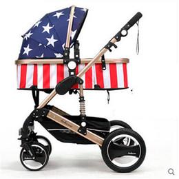 Wholesale Stroller Shock Absorbers - Folding baby stroller light four wheels alloy Base Unit Infant Pram Cart Infant Car baby carriage bies shock absorbers