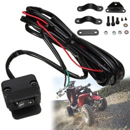Wholesale Waterproof Rocker Switch 12v - Wholesale- 12V ATV Rocker Winch HandleBar Remote Switch Waterproof Replacement Fits Most 300cm Cable Fits Winches Switch Black