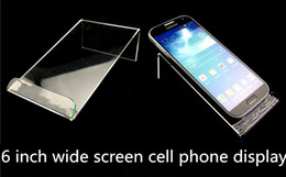 Wholesale Acrylic Cellphone Display - Universal General Clear Transparent Acrylic Mount Holder Display Stand Shown for iphone Samsung Cellphone Mobile Phone