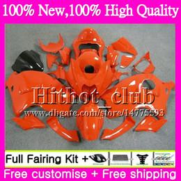 Wholesale Hayabusa Black Orange - Body For SUZUKI Hayabusa GSXR1300 ALL Orange 96 07 GSXR-1300 41HT105 GSX R1300 2002 2003 2004 GSXR 1300 2005 2006 2007 Motorcycle Fairing