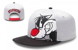 Wholesale Sports Cap Low Price - Wholesale-SYLVESTER cartoon Snapback Hats grey color men & women's fashion cat sports caps top quality low price freeshipping