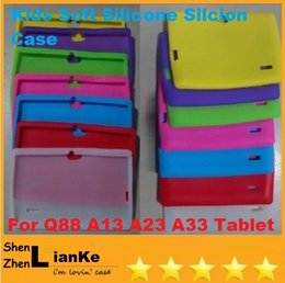 Wholesale Silicone Case A13 Q8 Pink - High Quality Protective Silicone Silicon Soft Case Back Cover for 7 inch A13 A23 Q88 Q8 Tablet PC MID Colrful Free shipping