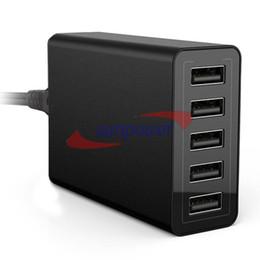 40W 5-портовый высокоскоростной настольный USB-зарядное устройство с технологией Smart Port для iPhone6 iPad Smart Phone MID от