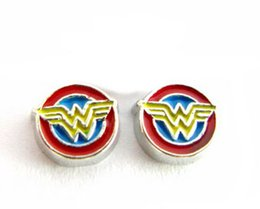 Wholesale float number - (20 , 50)PCS lot wonder woman Floating Locket Charms Fit For Magnetic Glass Memory Locket Fashion Jewelry Making