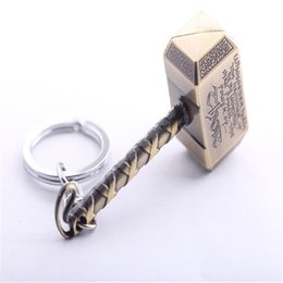 ship hammer Promo Codes - The Avengers Thor Hammer Keychain Key Rings Superhero Thor Key Chain Holder Fashion Jewelry Drop Shipping