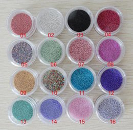 Wholesale Micro Caviar Beads - WholesaleFree Shipping 16 colour of 450 Gram per pack caviar nail, 0.6-0.8mm nail art micro glass beads,tiny circle beads(#06)