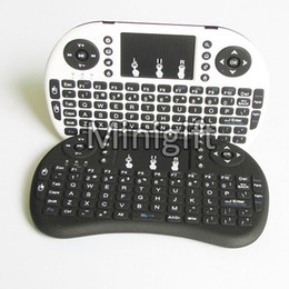 Wholesale tv wifi keyboard - Rii i8 Remote Mouse Keyboard Combo Wireless 2.4GHz Touchpad Keypad For U1 17.2 S905 MXQ PRO M8S WIFI Bluetooth Android OTT TV BOX 50pcs
