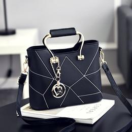Wholesale Sweet Pink - 2017 new bag female Korean version of the stereotyped sweet fashion handbags Messenger Messenger shoulder bag